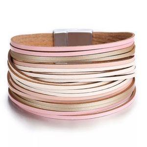 *2 for $25* Fashion Faux Leather Bracelet/cuff